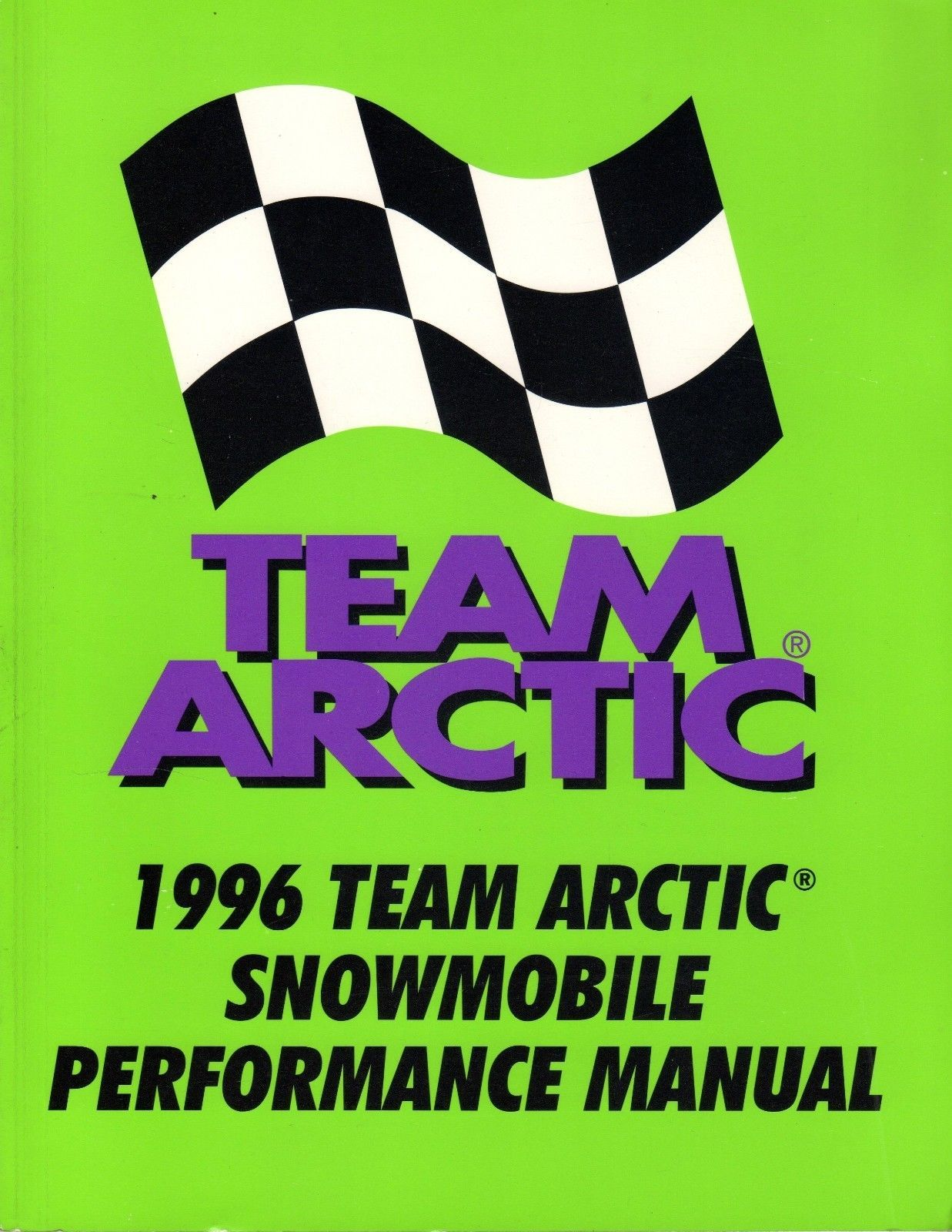1996 ARCTIC CAT TEAM SNOWMOBILE PERFORMANCE SERVICE MANUAL P/N 2255-320 (150