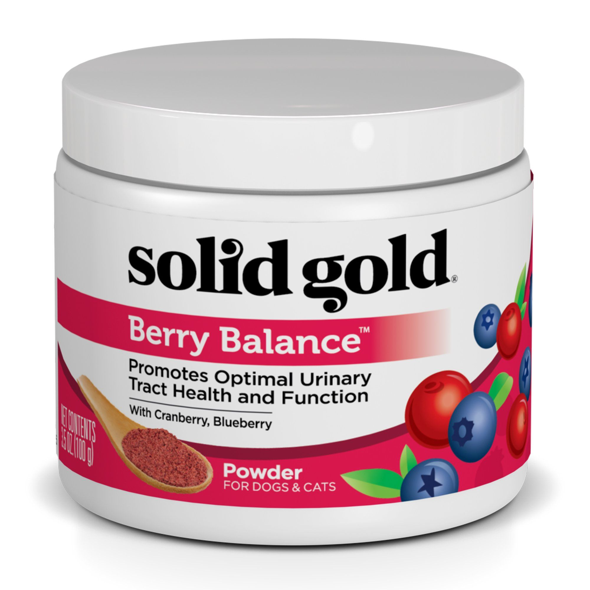 Solid Gold Berry Balance Supplement Powder For Urinary Tract Health With Cranberries Blueberries For Dogs Cats 3 5 Oz Cat Supplements Cat Vitamins Cat Supplement