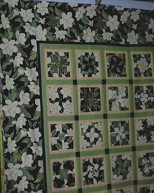 Four Patch Posy using Blank Quilting Magnolia fabric | Magnolia ... : magnolia quilt pattern - Adamdwight.com