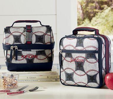 Mackenzie Blue Baseball Lunch Bags Classic Bag