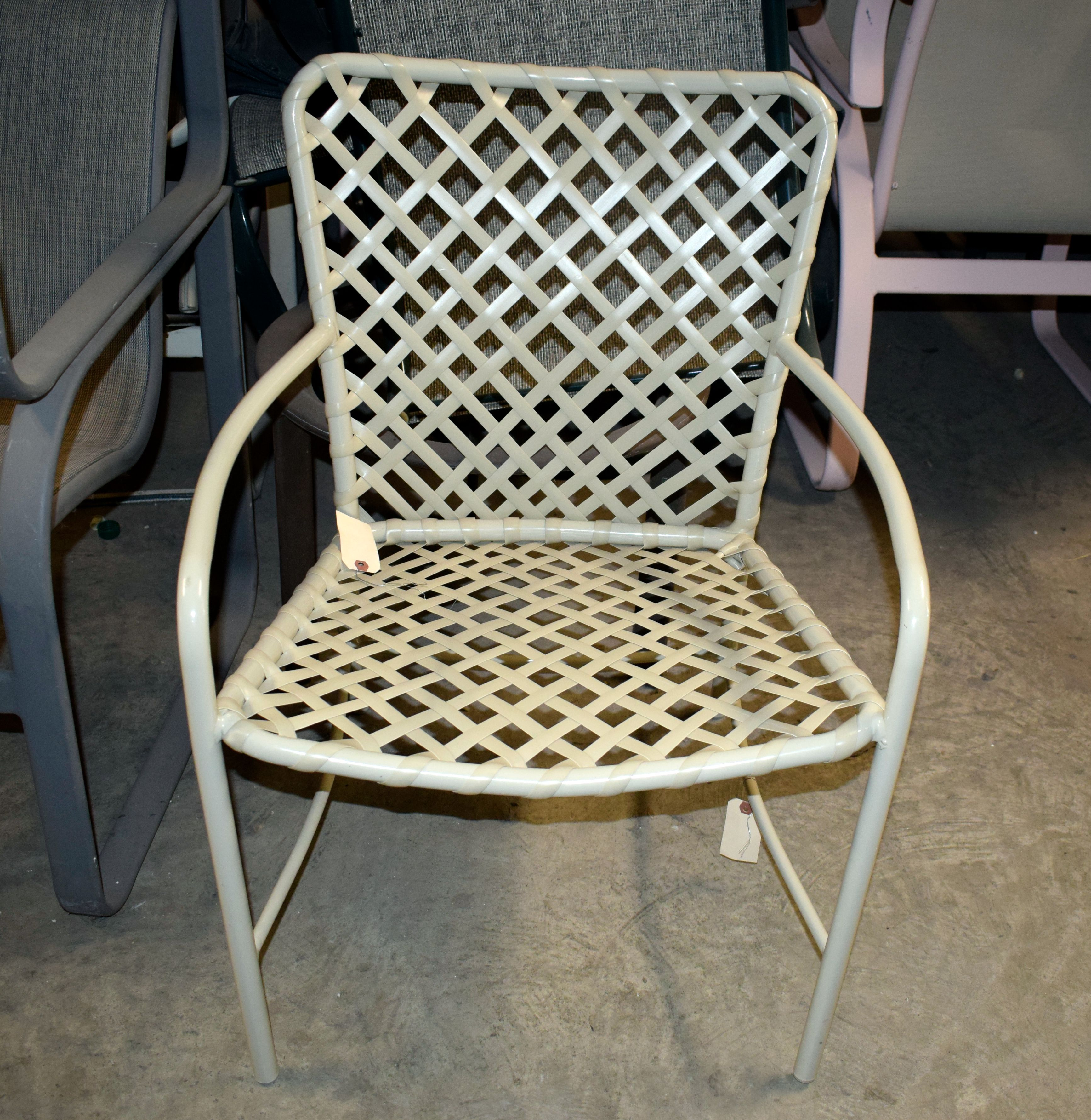 vinyl chair repair graco blossom high babies r us canada strap replacement for patio by the care