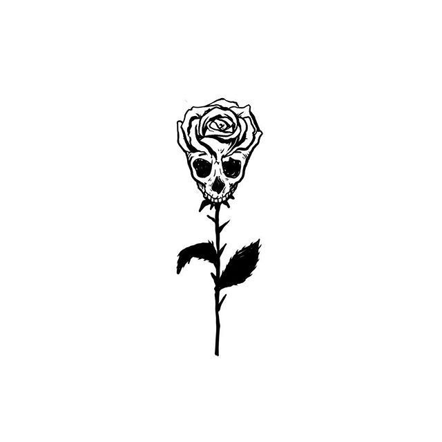 Illustration Illustration Skull Rose Tattoo Idea Illustration Picture Description Skull Rose In 2020 Skull Rose Tattoos Skulls Drawing Tattoos