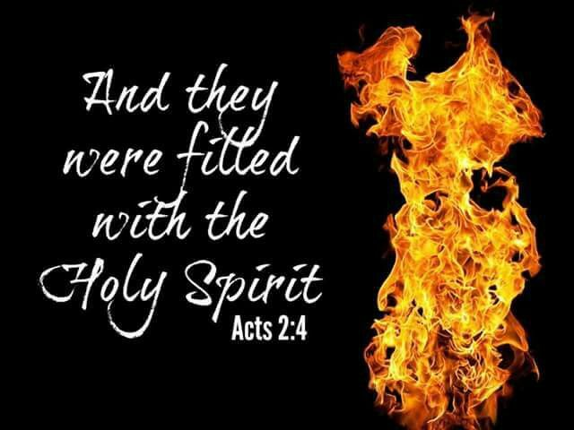 and they were filled with the holy spirit acts 2 4 holy fire