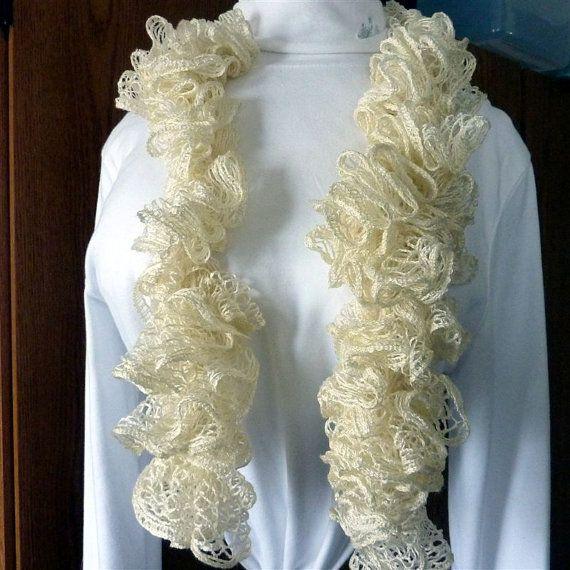 Ivory Sashy fashion scarf by pauladyer1 on Etsy, $18.50