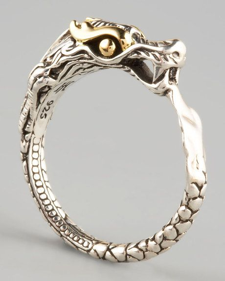 outfits with John Hardy | John Hardy Slim Dragon Ring in Silver - Lyst. Hollis & Company