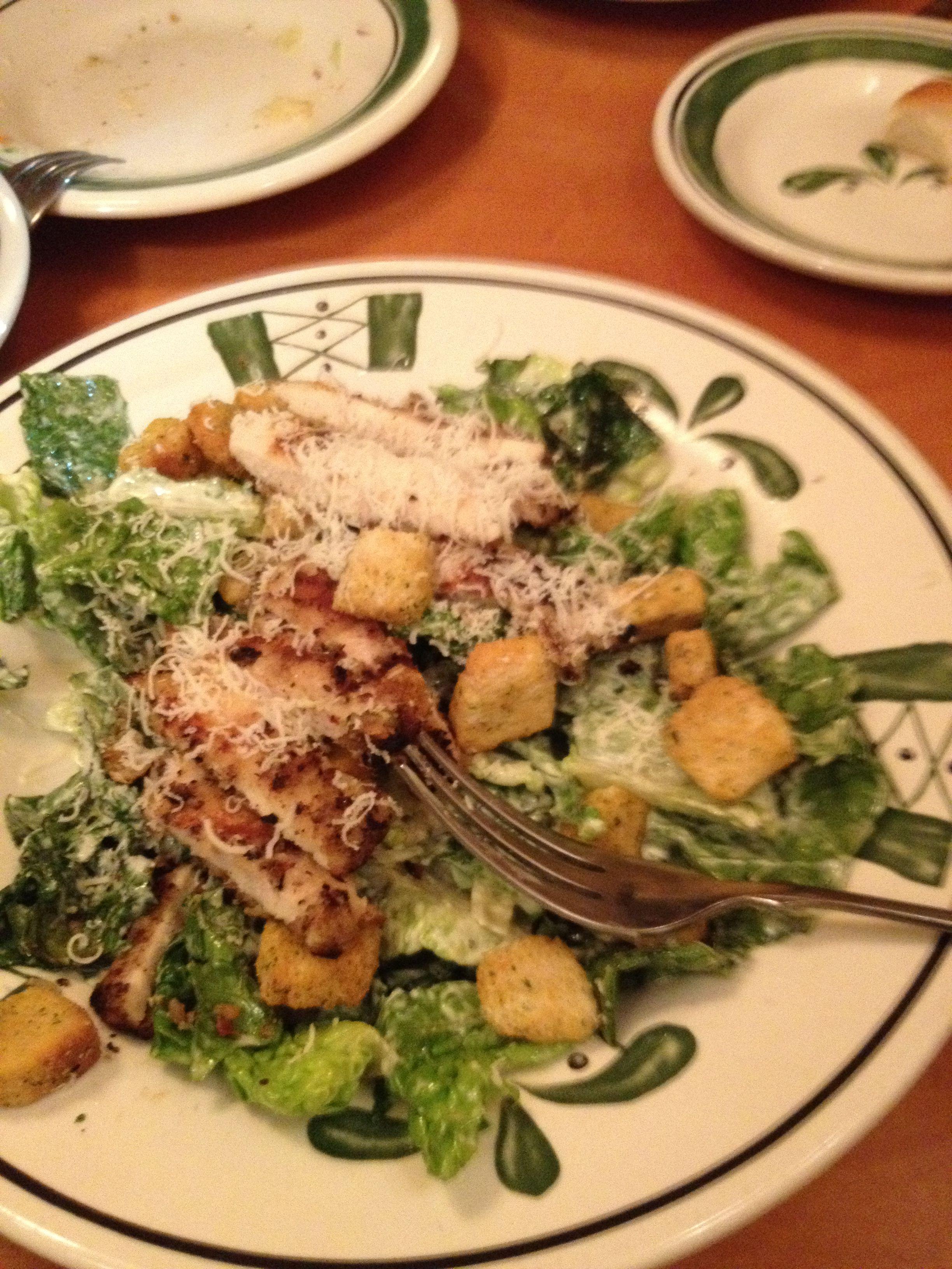 Olive Garden caesar salad... Yumm!!