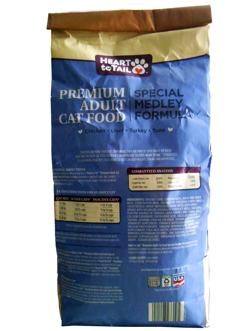 Heart to tail premium adult cat food special medley