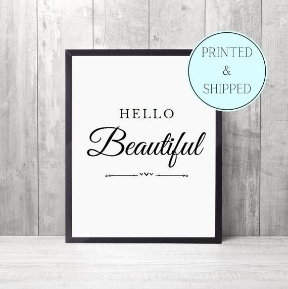 Hello Beautiful Print  FREE P&P   Etsy