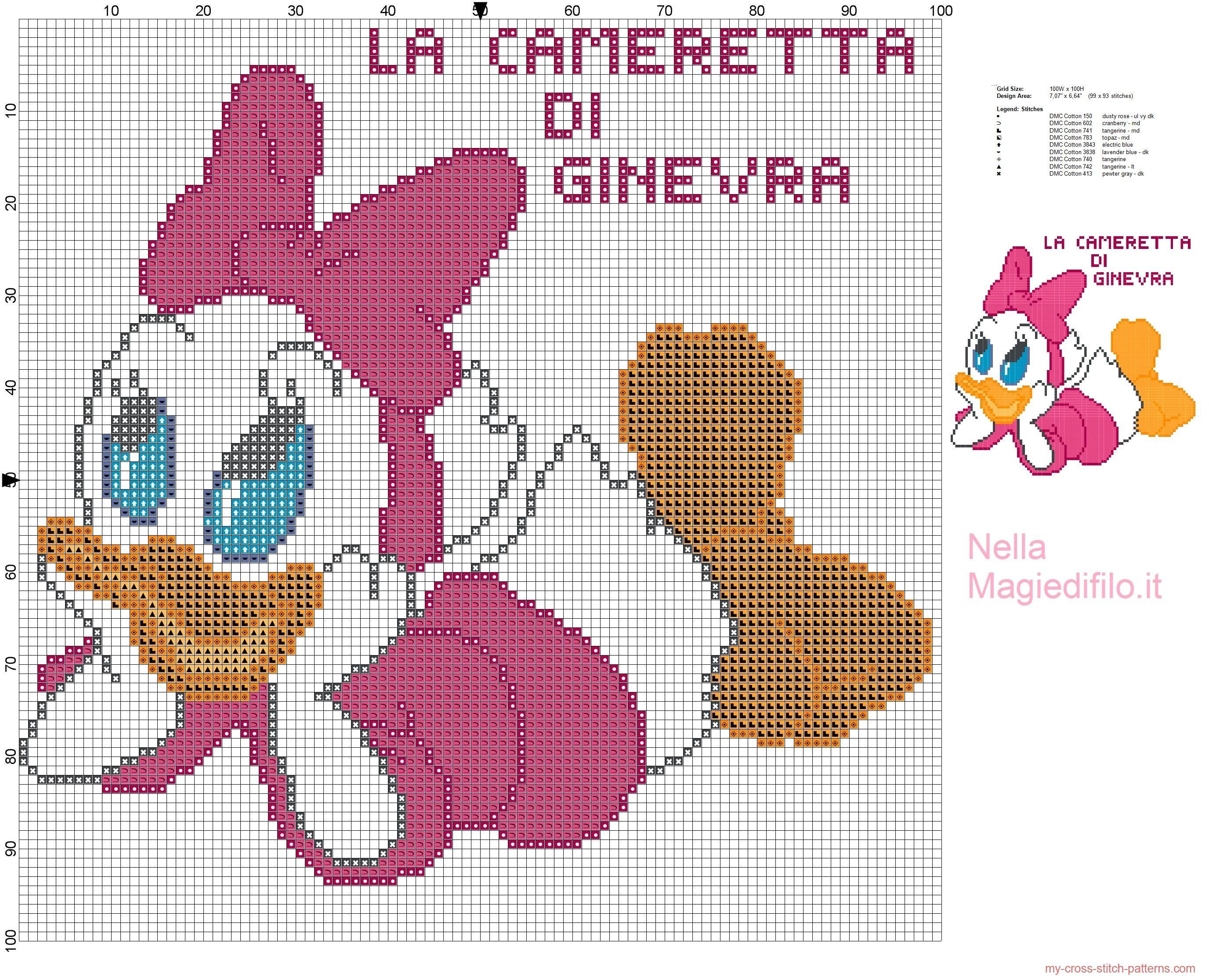 Happy baby Daisy Duck | Laura | Pinterest | Punto de cruz, Punto and ...