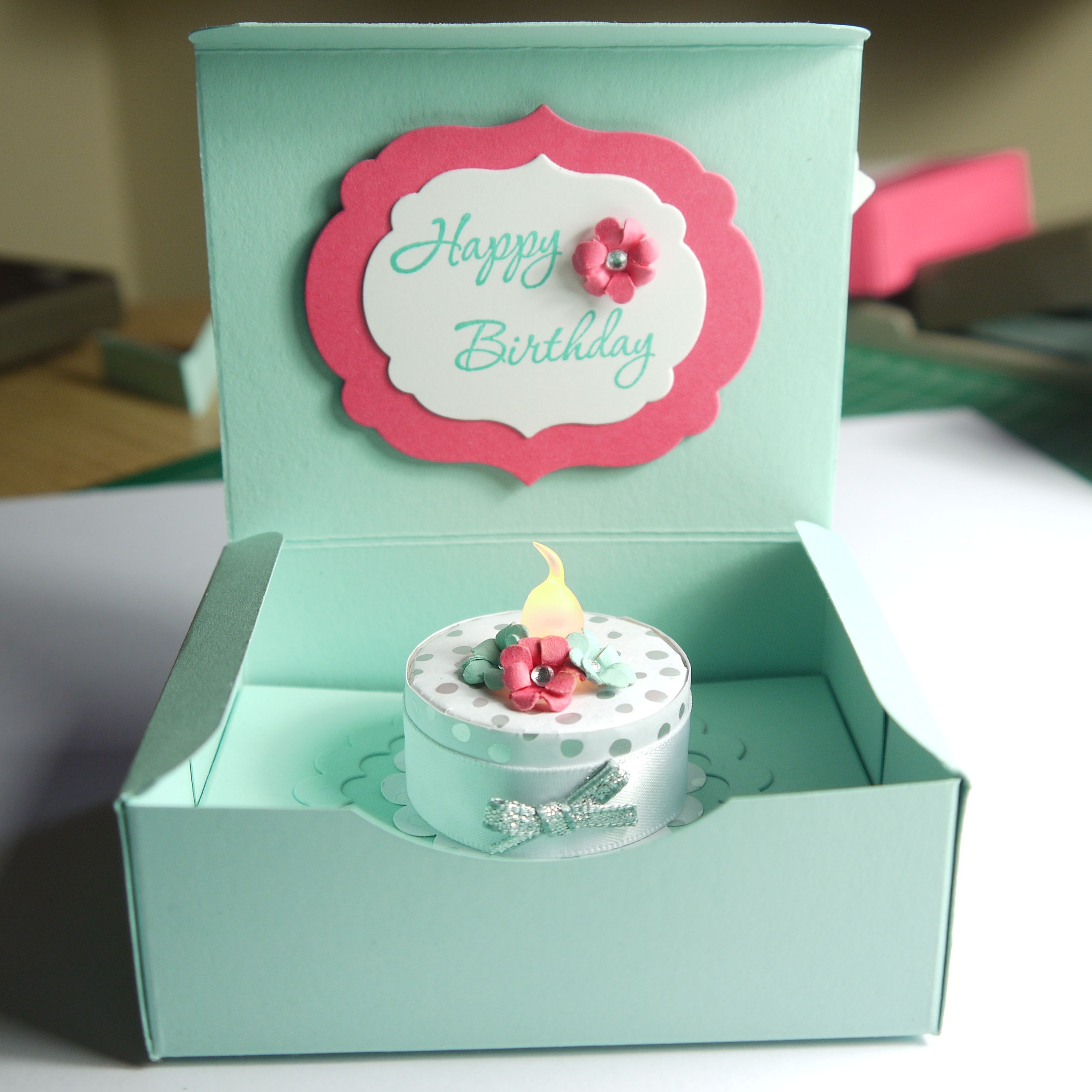 Birthday cake in a box alternative to a birthday card i