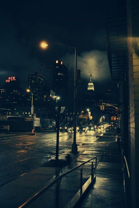 New York At Night Cityscape Urban Landscape Night City