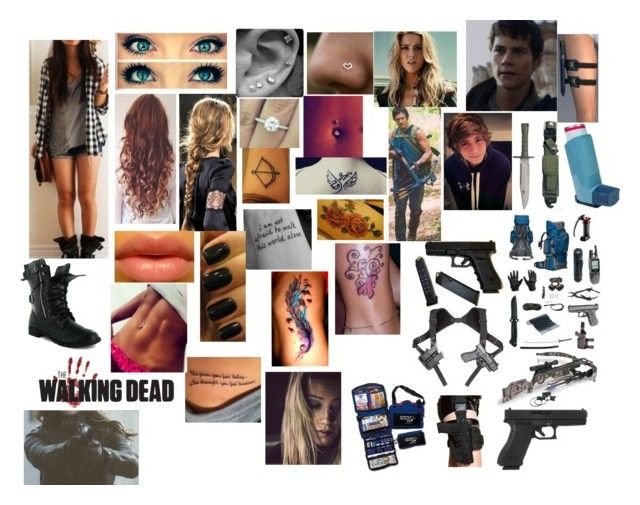 """""""killing the flesh rotters"""" by leonatw5sos1dluver ❤ liked on Polyvore featuring VICTORIA SMITH, CO, OPI and RIFLE"""