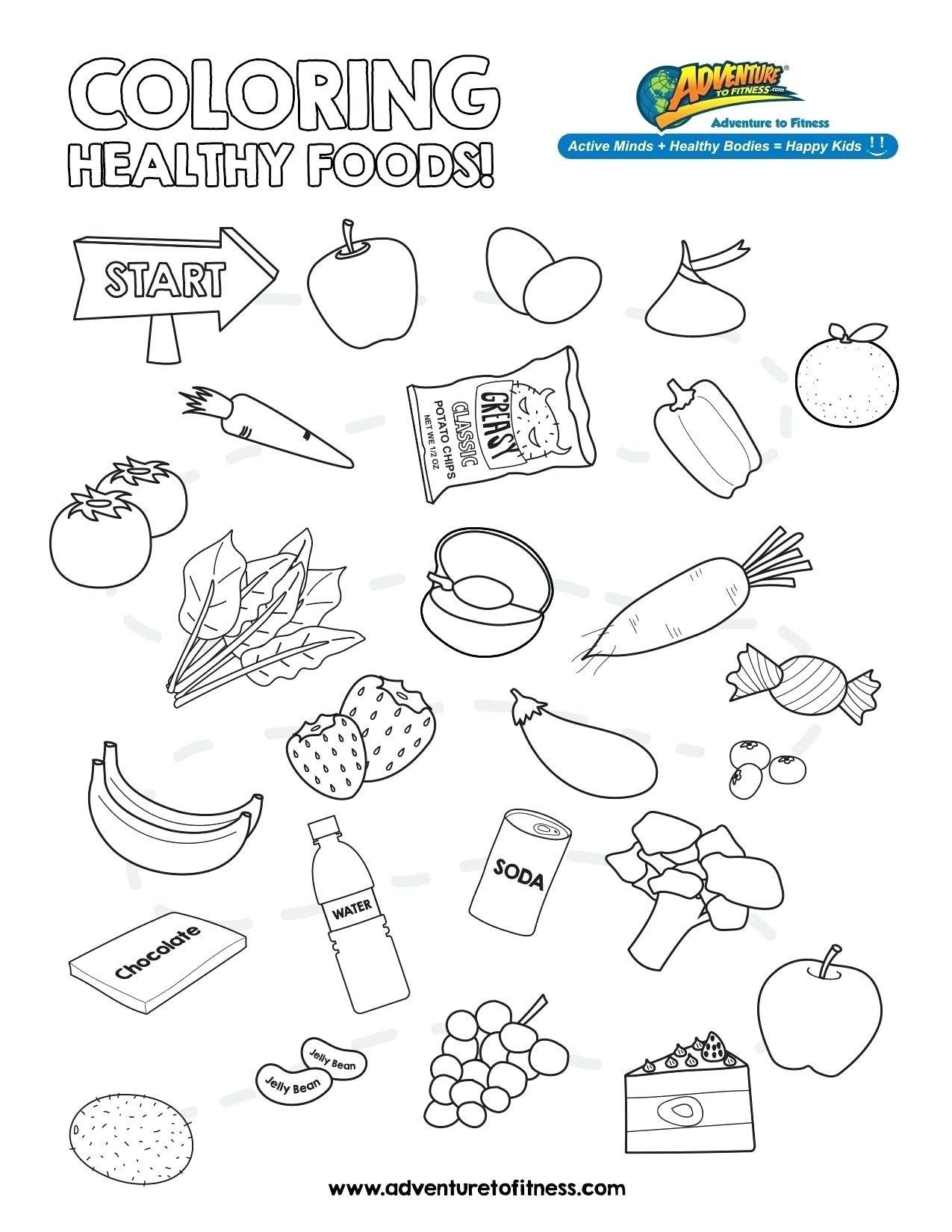 Healthy Food Coloring Pages Healthy Food Coloring Pages