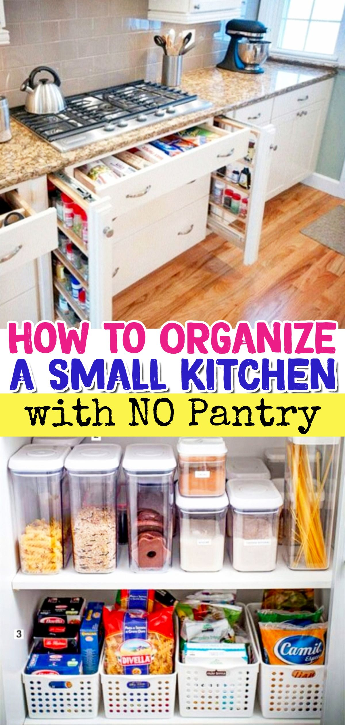 No Pantry? How To Organize a Small Kitchen WITHOUT a Pantry ...