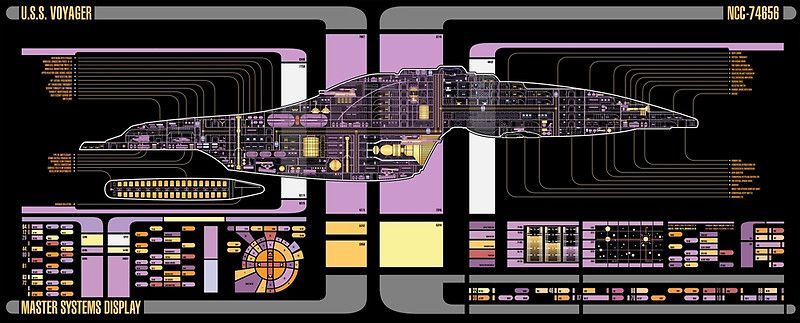 Intrepid Cl USS Voyager Highly Detailed Schematic