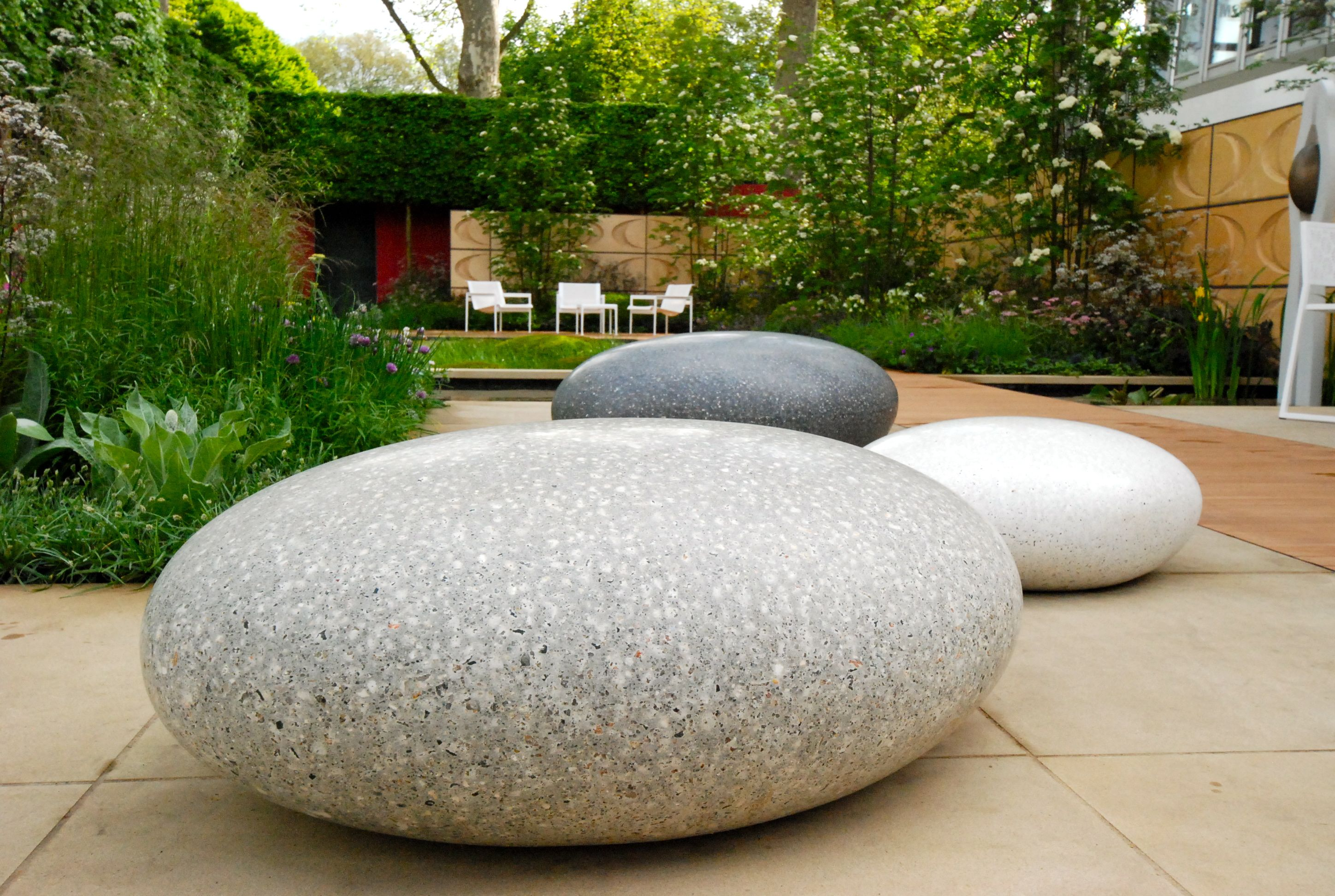 Pebble Tavolino ~ Ulf nordfjell giant pebble shapes for seating click image to
