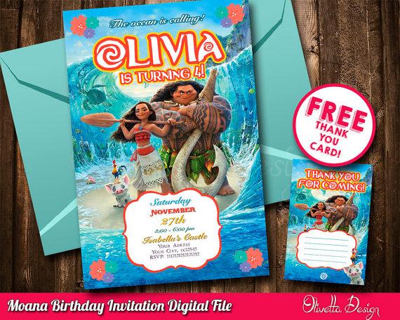 moana invitation vaiana invitation printable moana invitation