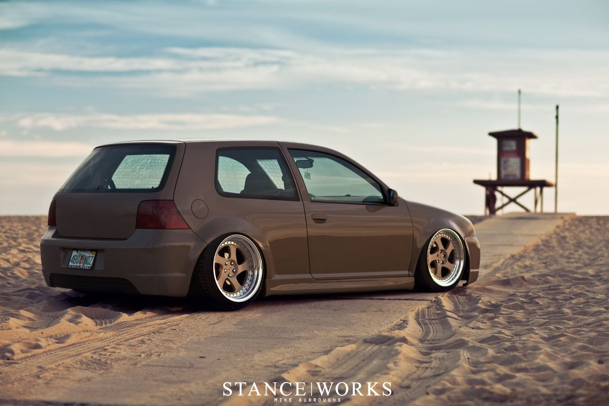 Stance Works Low Is A Lifestyle Volkswagen Golf Volkswagen Golf Mk2 Vw Golf Mk4