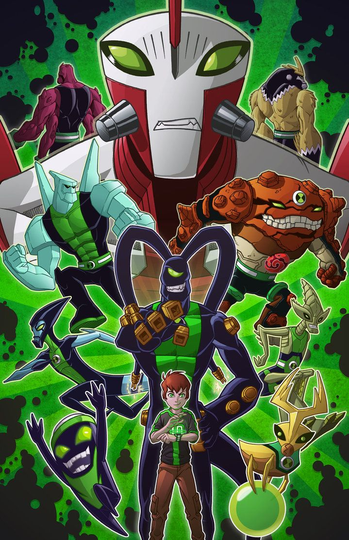 So This Is The Finished Ben 10 Picture I Ve Been Working On You Know What Placing These Characters Just Right So It Ben 10 Ben 10 Omniverse Ben 10 Birthday