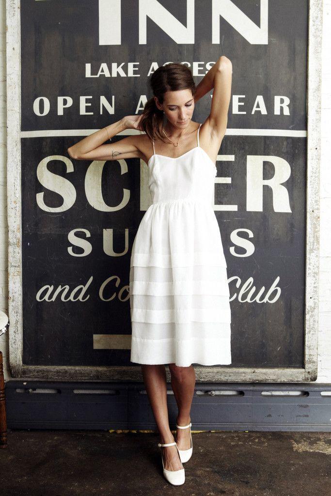 mejor venta presentación oferta vestido blanco midi en 2019 | Vestido blanco de verano, Moda ...