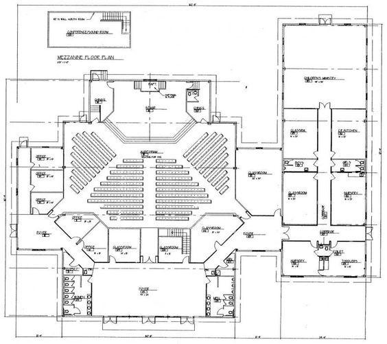 Church Building Plans   Church Plan #150   LTH Steel Structures