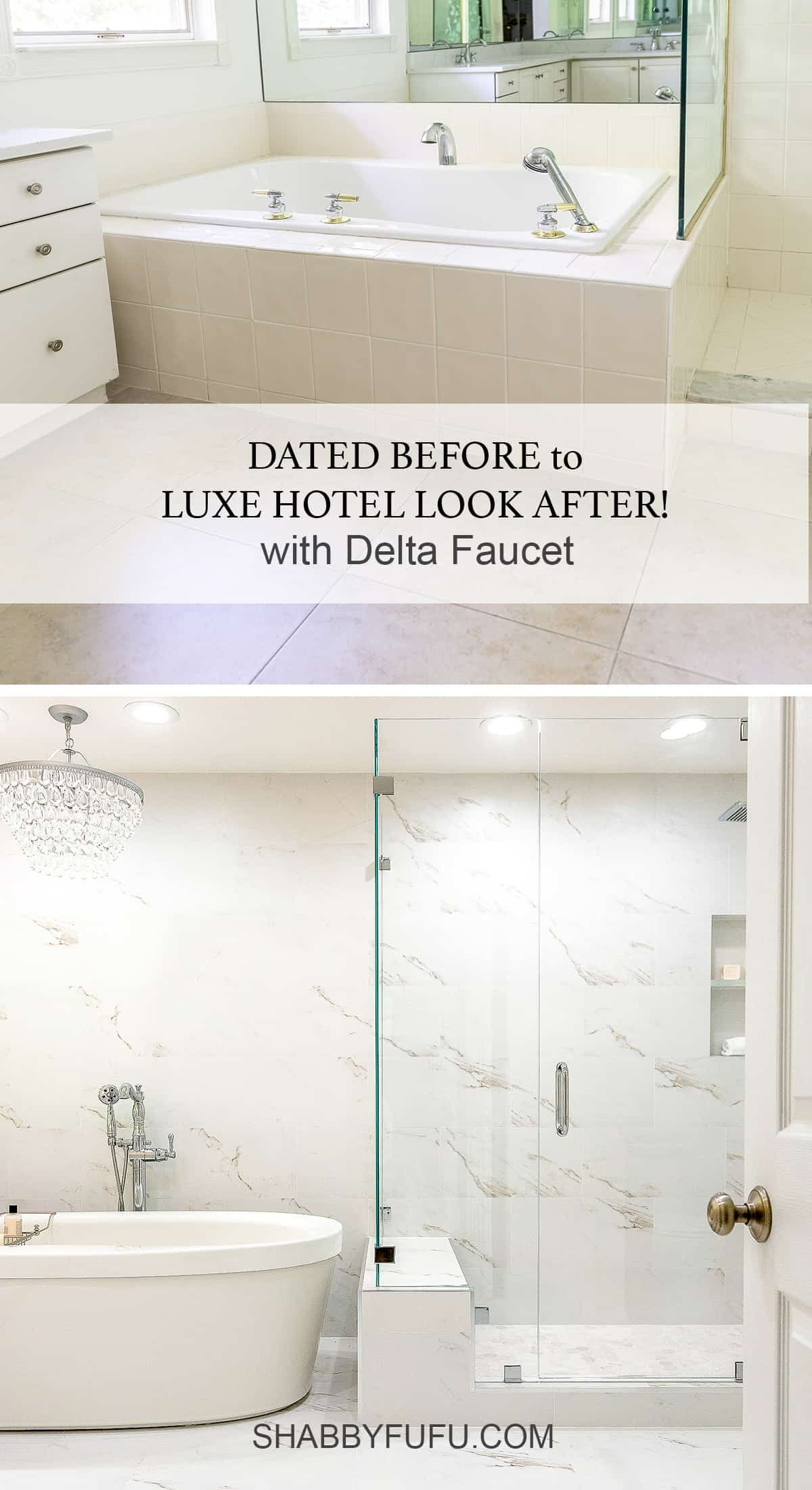 Master Bathroom Makeover With Delta Faucet With Images Master