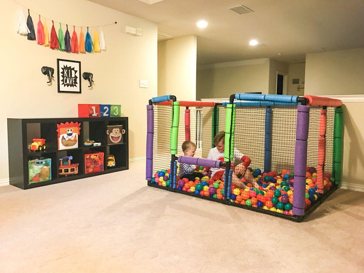 Do It Yourself Ball Pit Kids Playroom Ball Pit Kid Room Decor