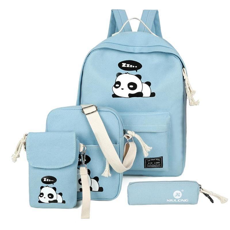 Kawaii Panda School bag bookbag cute panda laptop bag Kawaii panda on a cloud