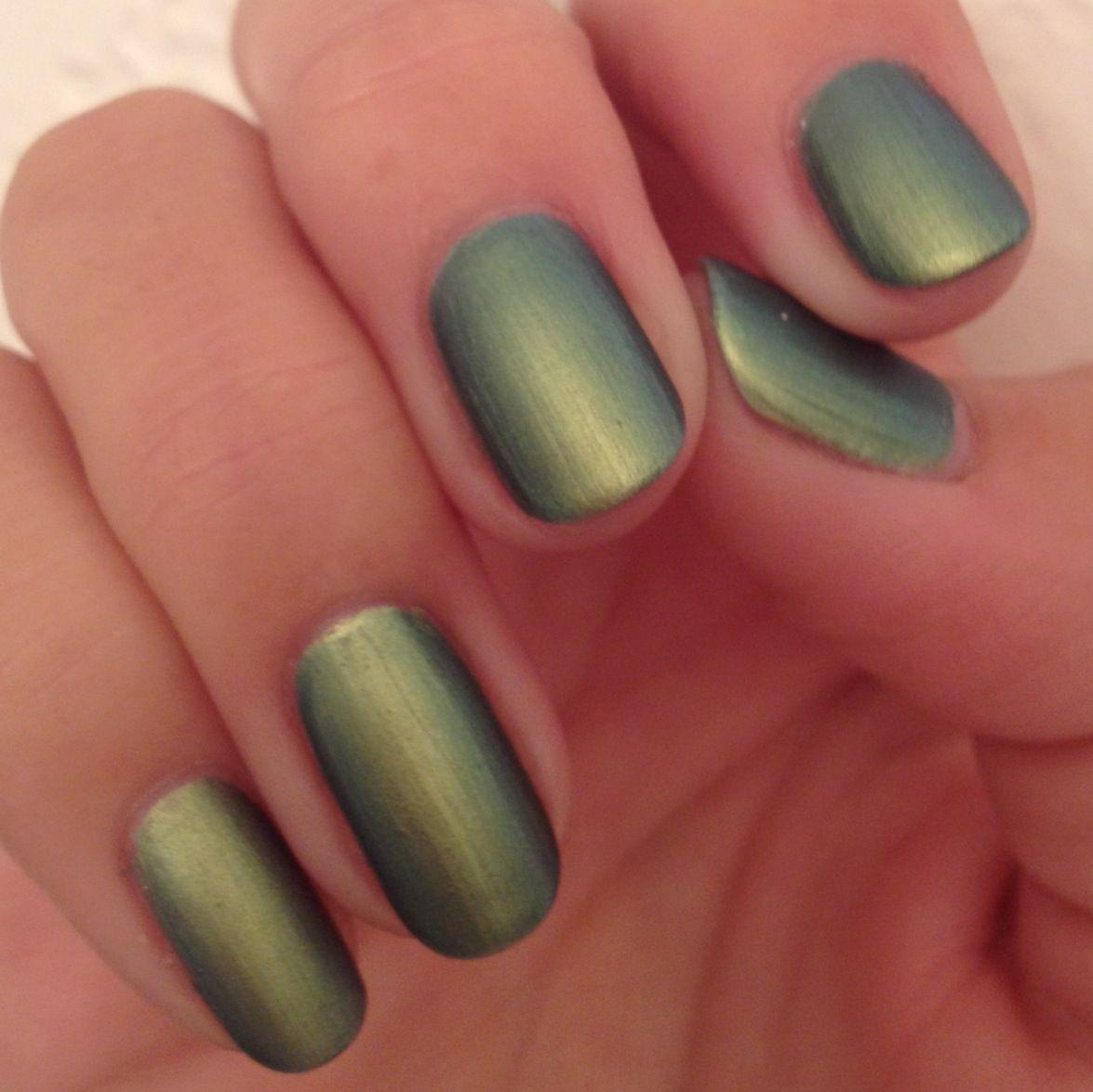 Brushed iridescent chrome. Nail Polish: China Glaze - Unpredictable ...