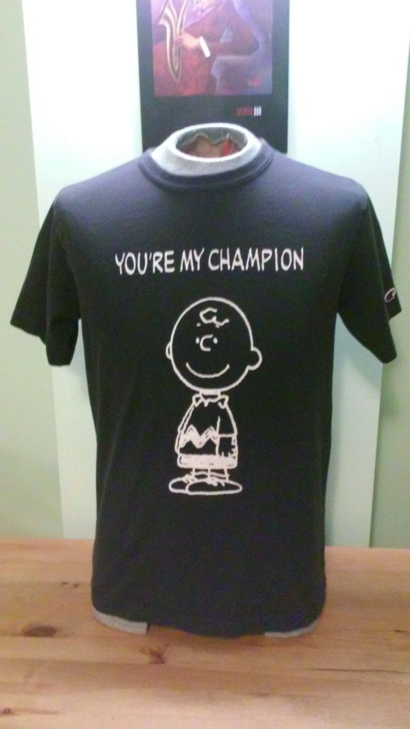 Vintage Charlie Brown Champion Unisex T-Shirt by VintageMixWest on Etsy