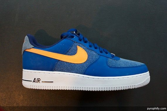 promo code fc782 1c619 Nike Air Force 1 Low – Storm Blue – Vivid Orange