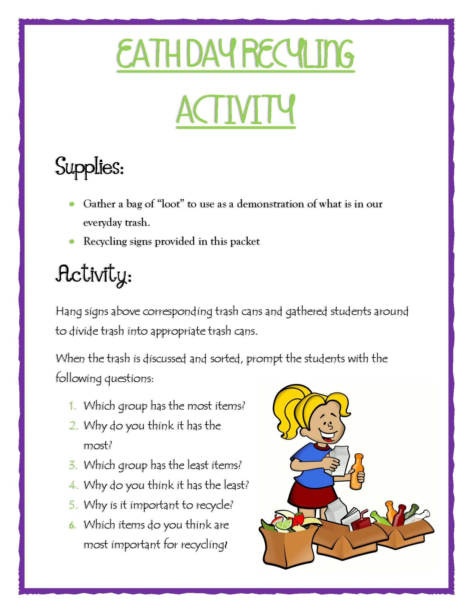 Earth Day Lesson Packet
