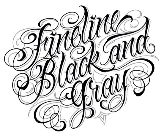 Fineline black and grey script killers pinterest for Grey tattoo writing