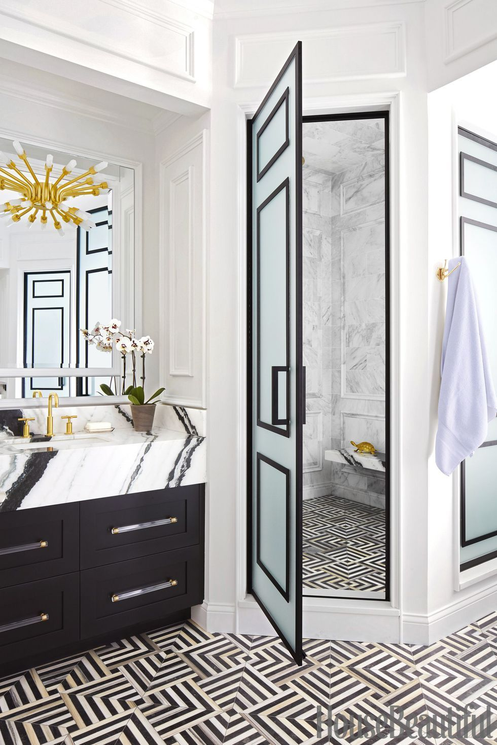 Bathroom Designer Chicago Adorable Black Trim  Designer Suzann Kletzian Transformed A Dark Chicago 2018