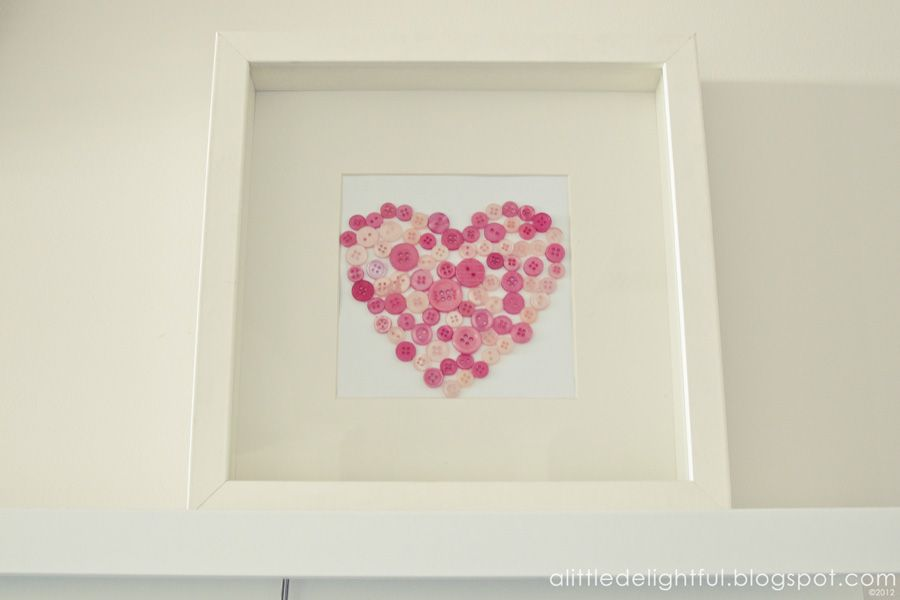 A delightful little craft: make a valentine\'s heart with buttons ...