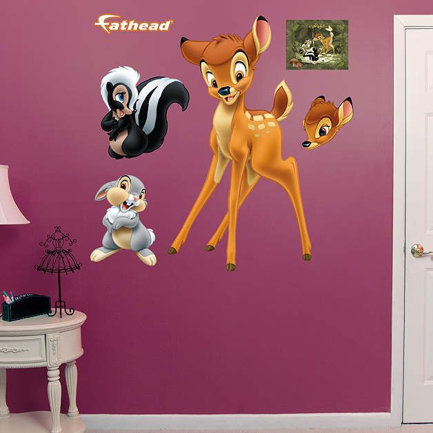 Fathead Disney Bambi And Friends Wall Decals   Wall Sticker Outlet
