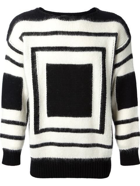 3033d2b6516fa0 Shop Alexander McQueen square knit sweater in Smets from the world's best  independent boutiques at farfetch