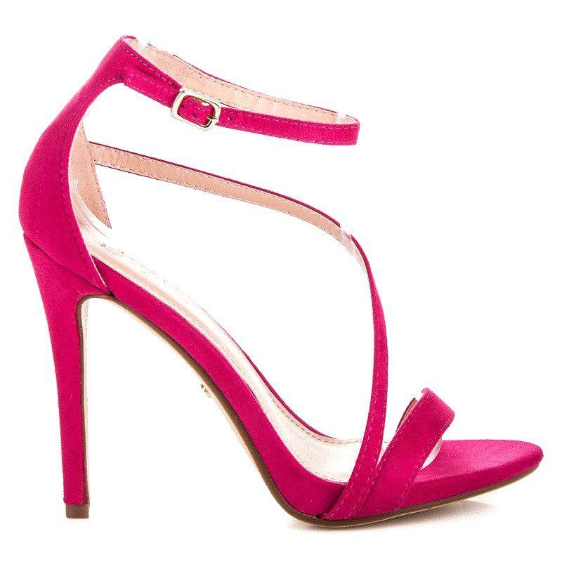 Seastar Eleganckie Sandaly Szpilki Rozowe Heels Stiletto Heels Shoes