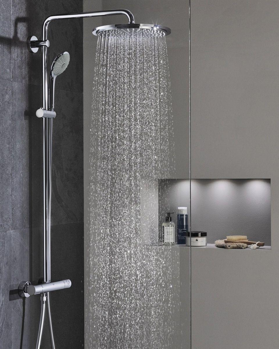 ciel de pluie grohe best manchon raccord coude grohe rainshower bras de douche vertical cm with. Black Bedroom Furniture Sets. Home Design Ideas