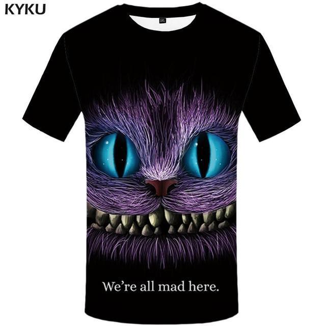 Photo of KYKU Brand Motorcycle T Shirt Punk T-shirt Knight Shirts 3d T Shirt Men Casual Rock Vintage Hip Hop Summer Tee Top Homme Clothes – 3d t shirt 03 / L