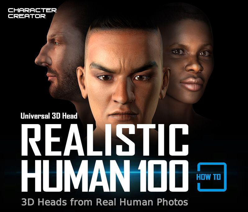 Create unlimited 3D characters with the universal 3D head in