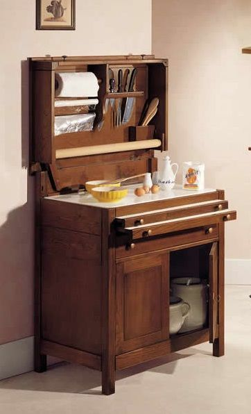 Madia in legno per cucina con tagliere art 53 credenze e - Credenze per cucine ...