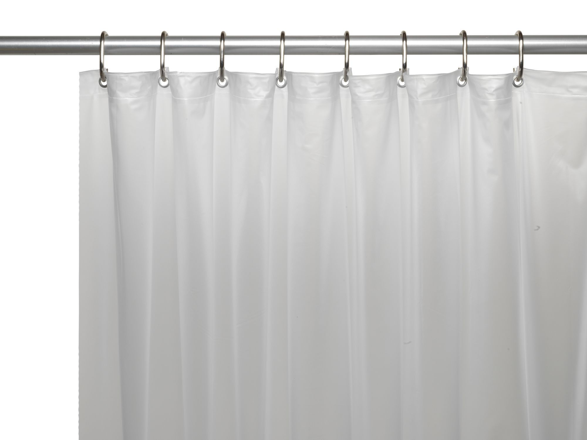 Royal bath extra heavy gauge vinyl shower curtain liner with metal