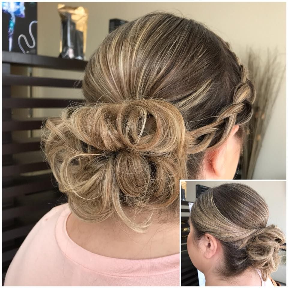 romantic valentineus day hairstyle for sassy look messy buns