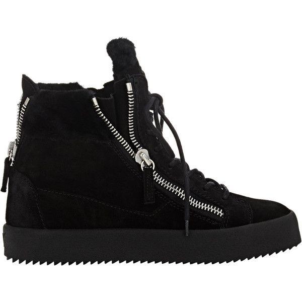 Giuseppe Zanotti Women's Shearling-Lined Double-Zip Sneakers (2.705 BRL) ❤  liked