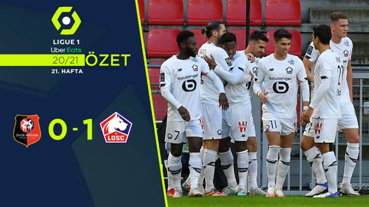 Ozet Rennes 0 1 Lille 2021 Rennes Lille Spor