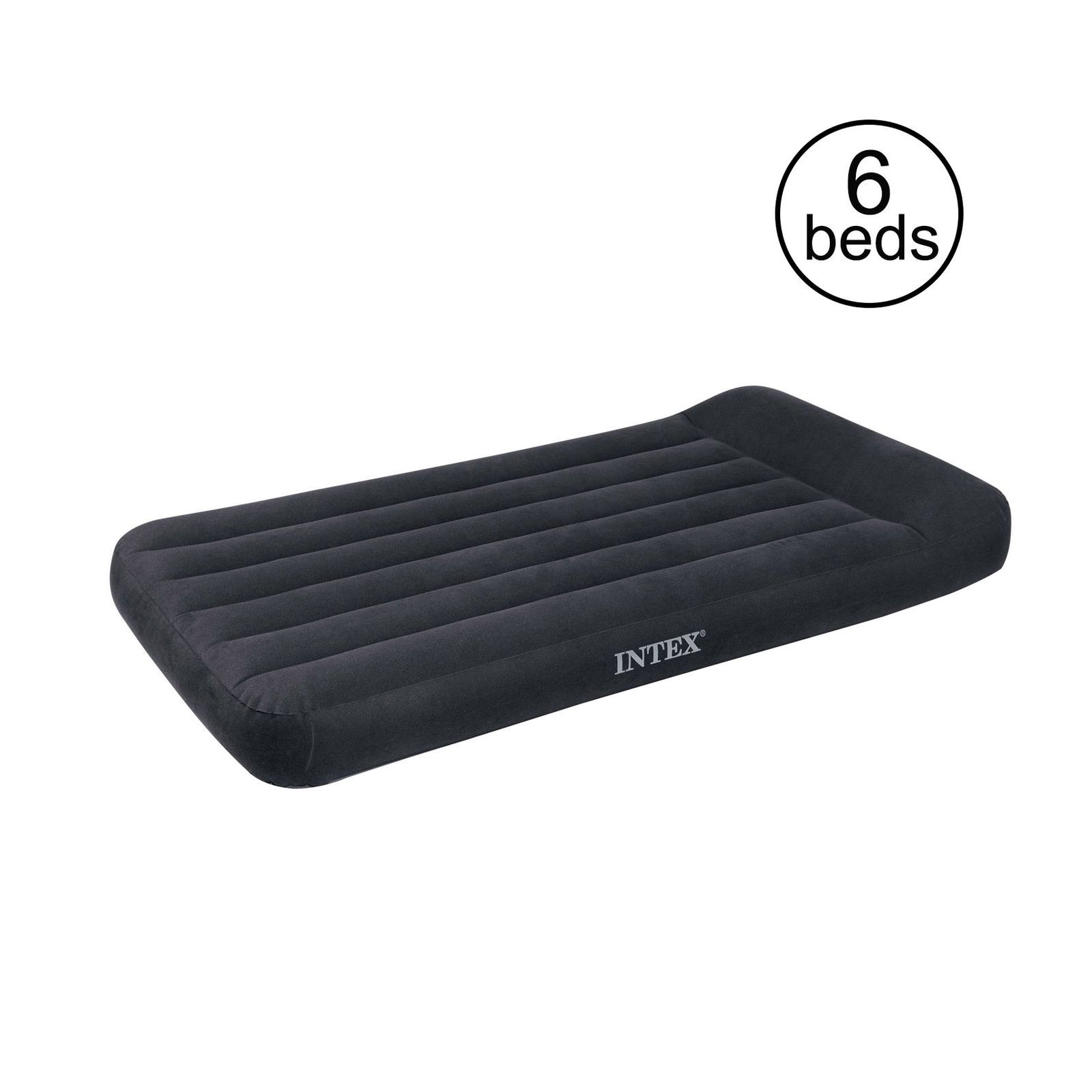 Intex Twin Classic Pillow Rest Air Mattress Bed With Built In Pump