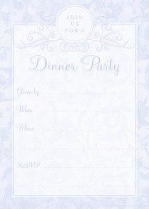 Free Printable Dinner Party Invitations Template From Printablepartykits