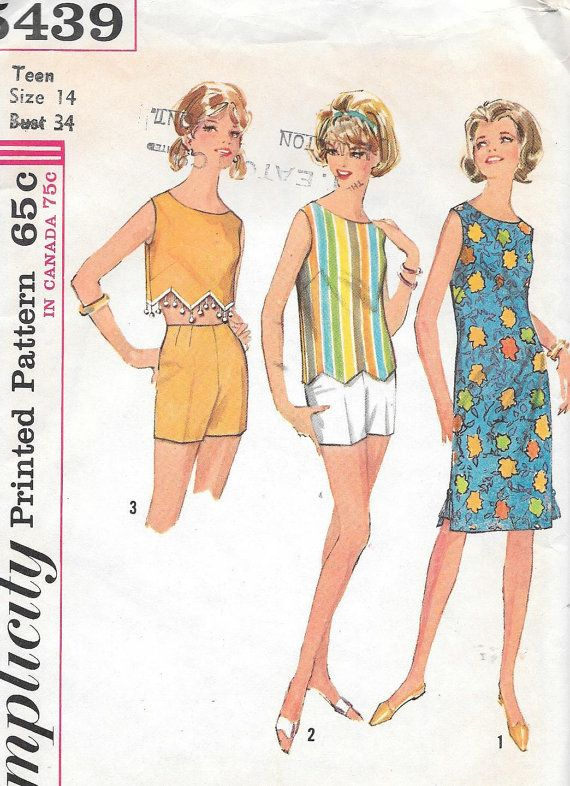 Vintage 1960s Simplicity Sewing Pattern by SewAddicted2SewMuch