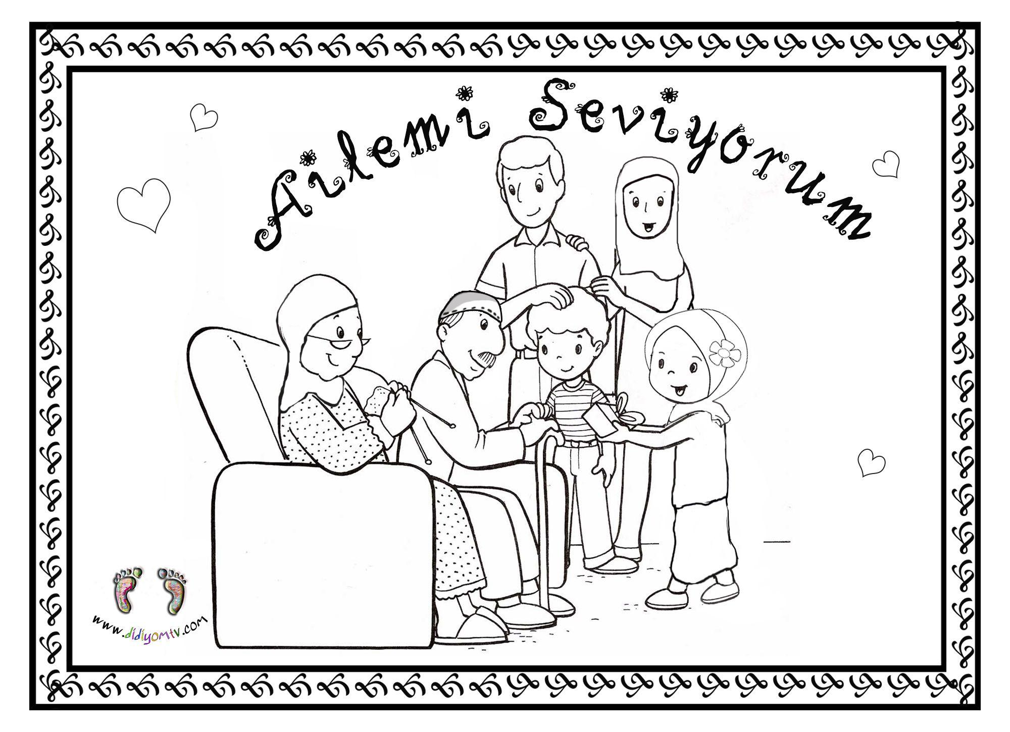 Sevgi Boyama Sayfalari Aile Boyama Sayfasi Ailemi Seviyorum Hediyelesme Boyama Sayfalari Boyama Sayfalari Egitim Tintin